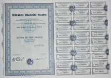Action - Compagnie Financière MOCUPIA, action de 100 Frs N° 008243