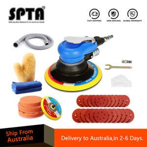 "SPTA 6"" Air Random Orbital Dual Action Sander Polisher with 12pcs Sanding Disc"