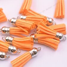 Mixed Acrylic Cap Top Tassels Terylene Velvet Pendants for Jewelry & Watches