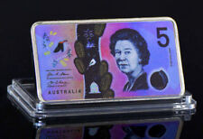 ★★  MEDAILLE AUSTRALIE PLAQUéE ARGENT ● BILLET DE 5 DOLLARS ★