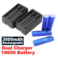 4Pack 3000mAh Batteries 3.7V Li-ion Rechargeable Battery + 2Pc Dual Chargers Usa