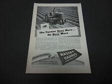 1946 Massey-Harris Tractor Co. Racine WI Print Ad Farm Equipment