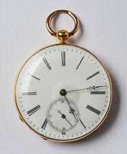 Taschenuhr Schlüsseluhr 18 Karat 750 Gold Gelbgold Golduhr Frankreich 1830/1850