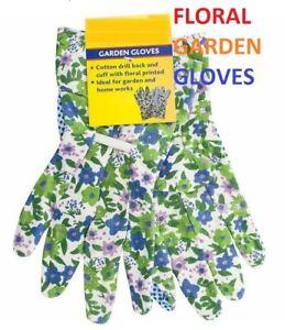 Floral Ladies Gardening Gloves Heavy Grip Weeding Lightweight Protective GLOVES