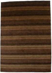 Contemporary Brown Tones 6X8 Indo-Gabbeh Hand-Loomed Oriental Rug Kids Carpet