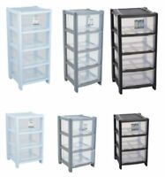 PLASTIC DEEP SIZE SHALLOW DRAWER TOWER DRAWERS ORGANIZER OFFICE HOME CLOTH NEW