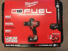 MILWAUKEE Akku-Bohrschrauber M18 FDD 502X inkl. 2x 5,0 Ah Akku in HD-Box (FUEL™)
