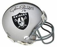 Jim Plunkett Signed Oakland Raiders Riddell Mini Helmet - SCHWARTZ COA