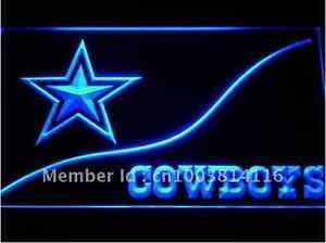 New NFL Football Dallas Cowboy LED Neon Signs Light Bar Man Cave 7 colors