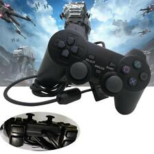 Black Durable Joypad Pad Single Shock Game Controller for Sony PS2 Playstation