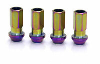 BUDDY CLUB P1 STAINLESS FLAME NEO CHROME M12x1.5 RACING ALLOY WHEEL NUTS Y2322