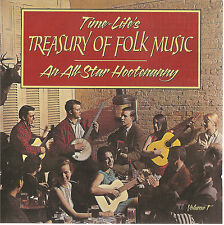 Time-Life Treasury Of Folk Music An All-Star Hootenanny 2 CD Set Pete Seeger New