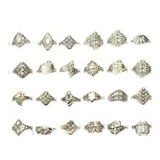 20Pcs Wholesale Lots Jewelry Mixed Style Tibet Silver Vintage Rings Jewelry Gift