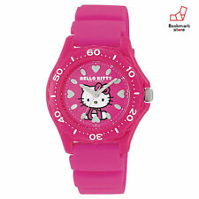 New CITIZEN Q&Q Hello Kitty Watches Pink Diver Waterproof VQ75-430 Woman's F/S
