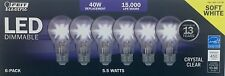 Lot of 72 Feit Electric LED Dimmable 40W / 5.5W Soft White - Crystal Clear Bulbs