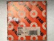 6001 FAG SINGLE ROW BALL BEARING. Size: 12mmX28mmX8mm.