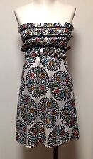 ModCloth Judith March Mini Dress Sz Small Stained Glass Print Silky