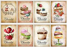 French Patisserie ~ Card Making Toppers / Scrapbooking / Crafting