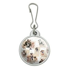 Cool Dudes Dogs in Outfits Jacket Handbag Purse Zipper Pull Charm