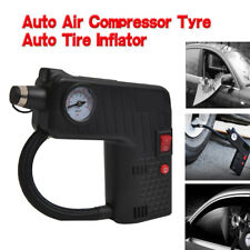12V Electric Car Tyre Inflator Pump Portable Tyre Air Compressor + Safety Hammer