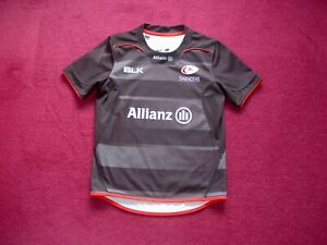 BLK Saracens Rugby Union shirt/Top/ jersey/sport/child/12 years
