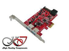 Gamme Pro - Carte PCIe 2.0 - 2x USB 3.0 + 2x SATA 3 - low + high profile