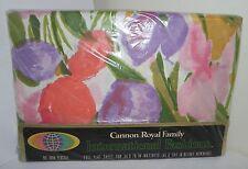 Cannon Royal Family Vtg Full Flat Sheet NOS Never Opened TULIP SUNDAY USA In Pkg
