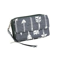 Straight Arrow Crossbody Clutch for Men and Women Gray