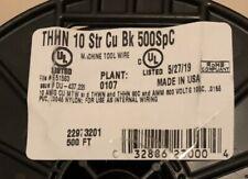 500' black # 10 awg stranded copper wire THHN/THWN