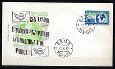 Italy - 1963 Postal conference centenary - Mi. 1144 clean unadressed FDC