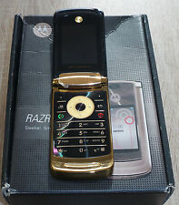 Motorola RAZR 2 v8 Black Gold negro oro plegable celular defectuosa #166#