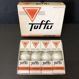 TUFFLI Dunlop Solid golf Box 1 Dozen Balls 1 2 3 4 Vintage Rare New