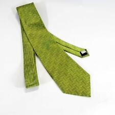 Men's Tie - Polyester- Woods and Gray- Green/Blue Waves