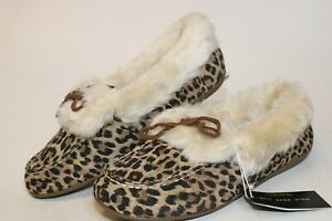Vionic Juniper Womens 9.5 40.5 Suede Moccasin Slippers Comfort Shoes XT-5-VL001