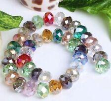 490pcs,Multicolor perles  Cristal Gemme,6x8mm