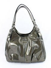 Coach Women's Olive Green Patent Leather Maggie Hobo Shoulder Bag