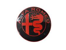 FREGIO STEMMA ANTERIORE PER ALFA ROMEO NUOVO LOGO - ROSSO NERO - 74MM