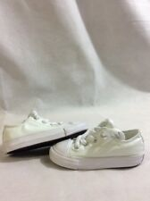All Star Converse Chuck T  Low Top Baby Toddlers Size 7 White UK7 Eur 23 ...A69