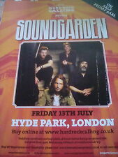 Soundgarden 2012 Hyde Park London Ticket Sale Time Advert Hard Rock Calling A4