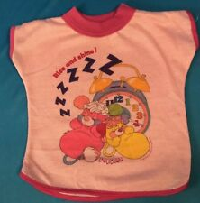 Rise N Shine Pink Vintage 1986 Puffball T-Shirt FOR Popple Plush Doll RARE