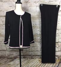 Womens Grace Dane Lewis Three Piece  Black Pant Suit Jacket Mp Shell Mp Pant Sp