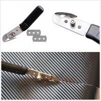 Portable Car SUV Wrap Scraper Sticker Vinyl Slitter Tool+2*Stainless Blades Kit