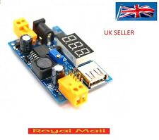 LM2596 DC-DC Adjustable Step-Down Power Converter Module+USB Port+LED Voltmeter