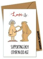 /'Love Your Noo Noo/' Lesbian Adult Greeting Card Rude Vagina Offensive Blank Card