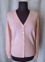 🔻Marks & Spencer  Cashmere Light Pink Cardigan UK14-16
