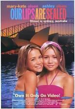 OUR LIPS ARE SEALED Movie POSTER 27x40 Ashley Olsen Mary-Kate Olsen Jim Meskimen