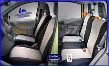 Coprisedili fodere Fiat Panda 2003>2012 set foderine auto copri sedili Beige kit