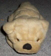 Doudou peluche chien marron clair