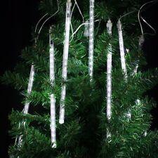 Meteor Shower Rain 8 Tube LED Solar String Lights Christmas Wedding Garden 30CM