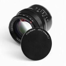 TTartisan 50mm F1.2 Large Aperture Portrait Manual Lens for Fuji X-Mount X-T3 T2